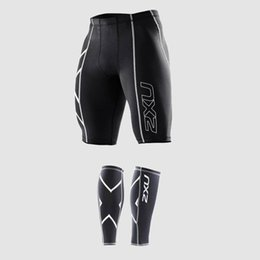 Chinese  new Compression Men Black Tights Shorts Gym Outdoor sports Polyester lycra Bodybuilding Mens Basketball+a FREE Pair Leggings manufacturers