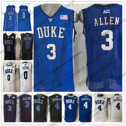 183535fff67 NCAA Duke Blue Devils  3 Grayson Allen 4 JJ Redick 0 Jayson Tatum royal  white round collar Stitched College Basketball Bagley Jerseys S-3XL