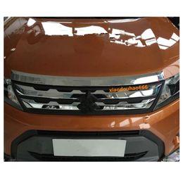 Chrome Engines Australia - For Suzuki Vitara 2016 2017 2018 car styling garnish cover ABS chrome panel front engine Machine grille hood sticker lid trim lamp
