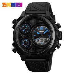 Men Digital Wrist Watches NZ - Top Brand Men Fashion Digital Watches big dial EL Light Multifunctional Alarm clock male Outdoor Sports Wrist Watch Relogio Masculino