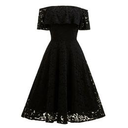 Robe Femme Stickerei Vintage Lace Dress Brautjungfer Schulterfrei Kleider Casual Party Eine Linie Plus Größe Kleid