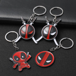 Chinese  New Metal Super Hero Deadpool Keychain Deadpool Mask Figure Keychain Key Rings Holders Fashion Jewelry Gift Drop Shipping manufacturers