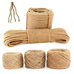 Pack Supplies Australia - 1mm-6mm Fine Handmade Rope DIY Craft Supplies Decoration Cords Retro Natural Jute Twine Thread for Gift Packing Bags Tag