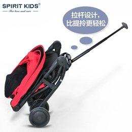 Carrinho de guarda-chuva de crianças de luz inteligente, carro de viagem de bebê portátil, design de carrinho de carrinho de bebê de dobramento de bebê, 4 roda, pode sentar-se mentira