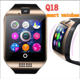 Bluetooth Smart Watch Sim Australia - Q18 smart watches for android phones Bluetooth Smartwatch with Camera Support Health Smart watches Tf sim Card Slot Bluetooth MQ50