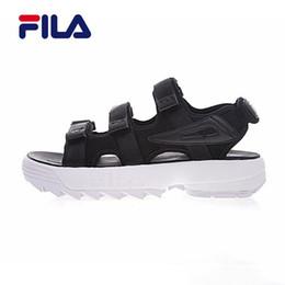 fa3ff0dc1 Soft back ShoeS online shopping - New Original Fila II men women Summer  Sandals black white