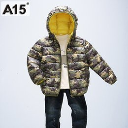 Baby Camouflage Jackets Australia - A15 Kids Cotton Down Jacket Coat Hooded Outerwear Children Camouflage Printing Baby Girls Parka Winter Jackets Size 2 3 4 6 8 Y