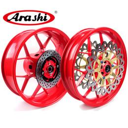 Venta al por mayor de Arashi para Honda CBR1000RR 2006 - Kit de llanta de la rueda trasera delantera 2016 CBR 1000 RR CBR1000 Rojo 2009 2010 2011 2012 2013 2015 2015