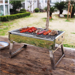 $enCountryForm.capitalKeyWord NZ - Barbecue Grill Rack Stainless Steel Stove Outdoor Portable Outdoor Charcoal Barbecue Home Oven Set Cooking Picnic BBQ Camping