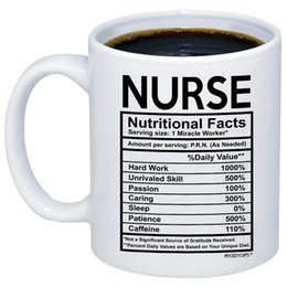 Nurse Nutritional Facts Mug Novelty Gift For Registered Nursing Student Assistant Birthday School Graduation