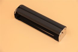 Paper Rolls For Shipping Wholesale Australia - free shipping USA tobacco smoking pipe hand 110mm size rollers WICKLER metal 110mm cigarette rolling machine maker for 110mm cigarette paper