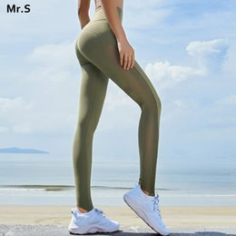 $enCountryForm.capitalKeyWord NZ - High waist side mesh yoga pants lace bandage workout gym legging compression dancing pants with stirrup fitness jogging trousers
