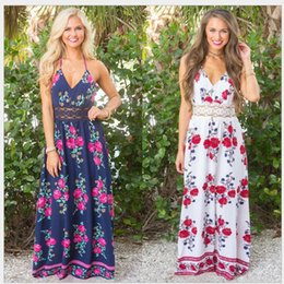 jumpsuit print dress Canada - Selection of various styles skirt dress shorts jumpsuits women Sexy Casual Floral long Maxi beach Dress women Bohemia beach mixi dress