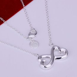 $enCountryForm.capitalKeyWord Australia - Fine 925 Sterling Silver Necklace, New Style Trendy 18Inch 8 Shape Chain Men Women Necklace Link Italy Fashion Ideal Gift 2018 Hot AN148