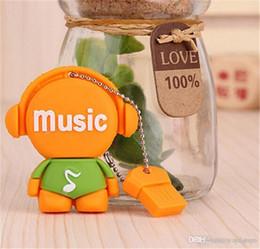 $enCountryForm.capitalKeyWord Australia - New brand Pen drive cute cartoon music man 8GB Musician design usb flash drive flash memory stick pendrive gifts u87
