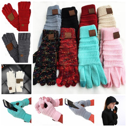 Touch fingers online shopping - Knitted Touch Screen Gloves Winter warm knitting Touch Screen Smart Cellphone Five Fingers Gloves pair colors GGA1221