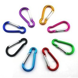 snap hook key ring Canada - Carabiner Clip Ring Keyrings Key Chain Outdoor Sports Camp Snap Hook Keychains Hiking Aluminum Metal Stainless Steel Camping Gadgets