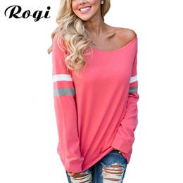 Top Hoody Women NZ - Rogi Women Hoodies 2017 Autumn Long Sleeve Striped Hoodie Sweatshirt Women Loose Tops Hoody Ladies Streetwear Sudaderas Mujer