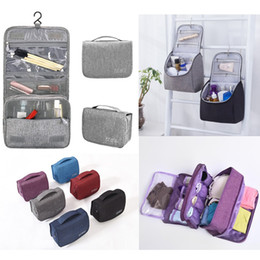 17 Styles Waterproof Makeup Cosmetic Bags Toiletry Bags Travel Hanging  Storage Organizer Undeiwear Bags for Bathroom Traveling and School c9666d6a2fd94