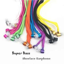 Shoelace headSet online shopping - Shoelace Earphones Super Bass Headphones Metal Headset Stereo Earbuds Running Earpieces Sport Handsfree With Mic for iPhone Xiaomi Samsung