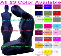spandex zentai mummy NZ - Sexy Mummy Suit Sleeping Bags New 23 Color Lycra Spandex Mummy Suit Costumes Sleeping Bags Unisex Sexy Mummy Body Suit Costumes Outfit P159