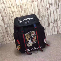 Tiger Embroidery Techpack with embroidery luxury designer Luggages travel bag man backpack shoulder bags book bag