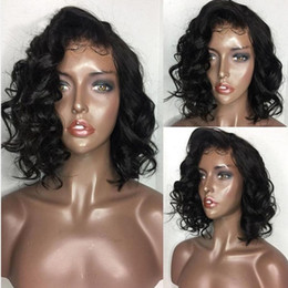 Loose Curls Long Hair Australia - 8A Culry Wigs For Black Women Loose Curl Virgin Brazilian Full Lace Human Hair Wigs With Baby Hair Lace Front Human Hair Wigs