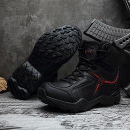 Botas de tobillo para hombre al aire libre Ejército táctico impermeable Senderismo Botas Militares Combate en el desierto Escalada de montaña Zapatos antideslizantes de trabajo US6.5-12 en venta