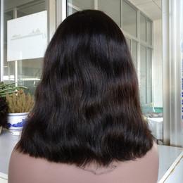 $enCountryForm.capitalKeyWord NZ - natural straight wave human virgin hair bob style lace front wig , natural color bob wig for black women