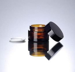 Amber glAss bottles screw online shopping - 30g brown amber glass cream jar with black lid gram cosmetic jar packing for sample eye cream g bottle