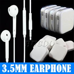Melhor Qualidade 3.5mm Fones De Ouvido De Ouvido Fone De Ouvido Colorido Com Controle Remoto E Microfone fone de Ouvido para o Telefone 5 6 7 plus em Caixa De Varejo venda por atacado
