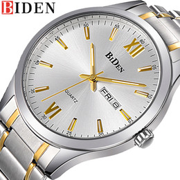 Speed S NZ - BIDEN Classic Business Casual Watch Men 's Stainless Steel Male Watch Speed Sell Through Foreign Trade Watches relogio masculino