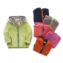 Wholesale Long Sleeve Boys Jacket Autumn Winter Children Outerwear Fleece Girls Warm Clothes Baby Hoodies Toddler Trench Coat