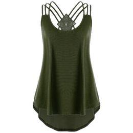 $enCountryForm.capitalKeyWord Australia - Free Shipping Summer Sexy Female Shirt Tops Fashion Women Hollow Out Vest Ladies' Bandages Strappy Tank Tops Hot Sales #EU8535