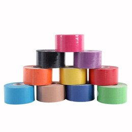China Muscle Tape 5M Sports Tape Kinesiology Tape Cotton Elastic Adhesive Muscle Bandage Care Physio Strain Injury Support 10 Colors suppliers