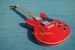 Guitars electric 335 red online shopping - In stock Special ALLNEWes semi hollow double F hole red jazz electric guitar