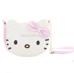 7e507d17f8ab Kawaii Cute Hello Kitty Cat Mini Small Shoulder Messenger Bag Kids PU Crossbody  Bags for Baby Girls Children Purse Wallet