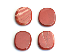 $enCountryForm.capitalKeyWord NZ - 4 Pieces Natural Blue Red Jasper Semi-precious Stones Carved Crystal Reiki Healing Palm Stones with a Free Pouch