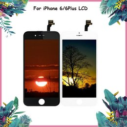 $enCountryForm.capitalKeyWord NZ - 5PCS For iphone 6 & 6 Plus LCD Screen Touch Panels Repair Replacement Black White Color Grade A+++ LCD Display DHL free shipinng