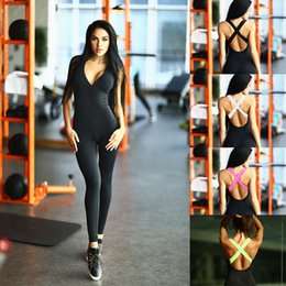 f626040db1b4 MEIERSES Yoga Set Light Weight Sports Jumpsuit Bandage Women Sportswear  Slim Fitness Clothing Backless Push Up One Piece Running