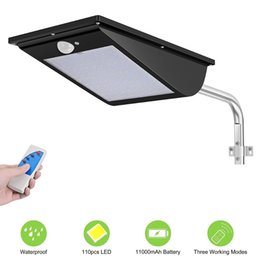 Remote contRolled outdooR lights online shopping - 110 Led Integrated Solar Street Lighting LM Super Bright Motion Sensor Remote Control Outdoor Wall Lamp Waterproof IP65