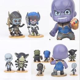 InfInIty set wholesale online shopping - The Avengers Doll PVC Set Cartoon Kids Gift Infinity War Toy Thanos Corvus Glaive Ebony Maw Toys wr hh
