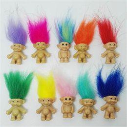 Baby Figures NZ - Tangled Hair Troll Doll Family Members Daddy Mummy Baby Boy Girl Leprocauns Dam Trolls Figure Toy Happy Love Family Halloween Xmas Gifts