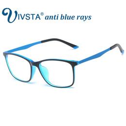 gaming computers 2018 - IVSTA Anti Blue Rays Gaming Glasses Men for Computer Phone Flexible TR90 Orange Blue Super Light Thin Square Custom Grad