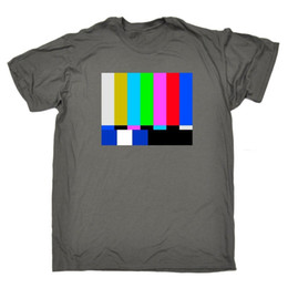 Colour Block NZ - TV Colour Test Colour Block T-SHIRT Tee Retro Vintage Funny Gift Birthday