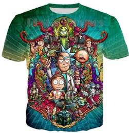 eb5e90b4 Newest Cool Rick Morty Men Women T Shirt Summer Anime T-shirts Rick and  Morty Worlds Folk Colorful Fitness Cartoon Tee Shirt S-XXXXXXL U169