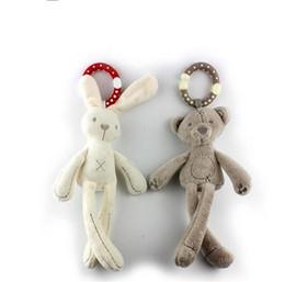Hanging monkey toys online shopping - Lovely Plush Rabbit Bear Doll Creative Baby Crib Stroller Hanging Ring Infant Kid Pram Mobile Bed Appease Intelligence Windbell Toy Gift