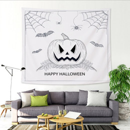 $enCountryForm.capitalKeyWord NZ - 150X130cm Cartoon Happy Halloween Hanging Large Tapestry Pumpkin Witch Broom Wall Art Picture Living Room Decorate Custom Woven Bedspreads