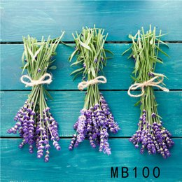 Discount blue studio background - LB Polyester & Vinyl Photography Photo Background Studio Backdrop Three Bunches Of Purple Lavender Blue Wooden Board New