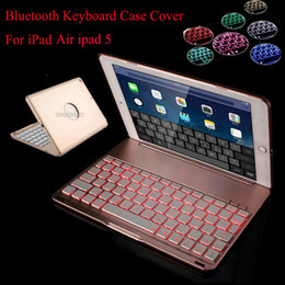 wireless keyboards colors 2018 - 7 Colors Backlit Light Wireless Bluetooth Keyboard Case Cover For iPad air ipad 5 A1474,A1475,A1476 tablet +Screen film+